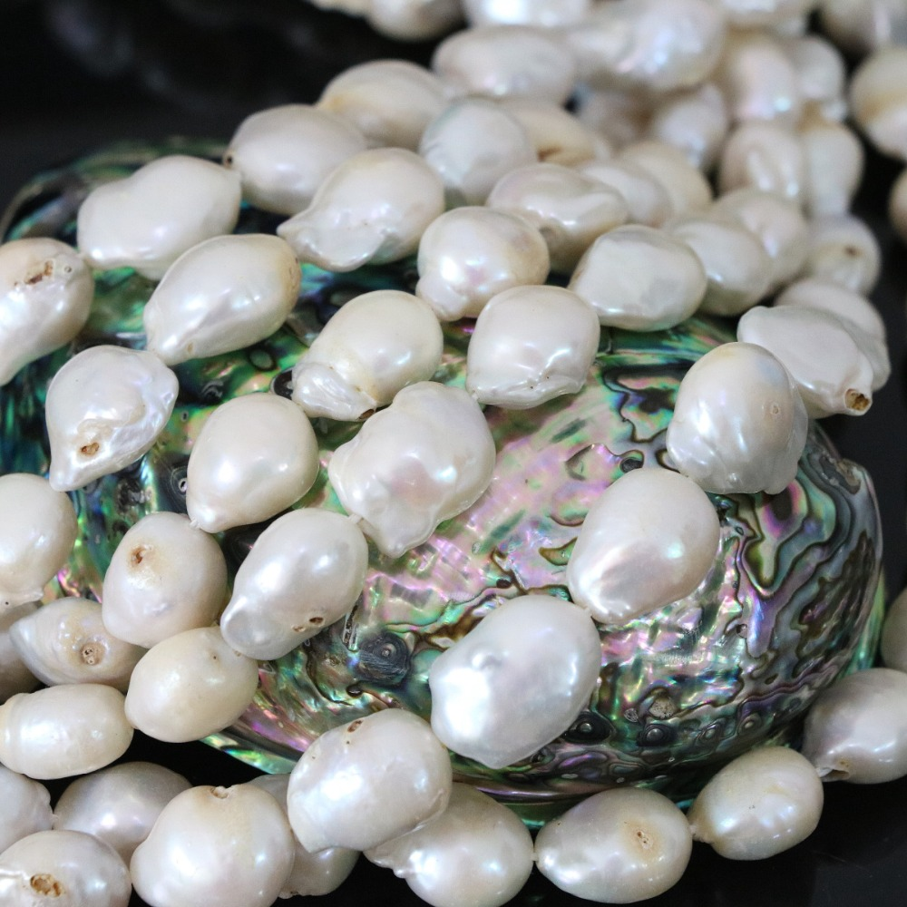 artbeads irregularly p strand pearls white shaped pearl potato freshwater