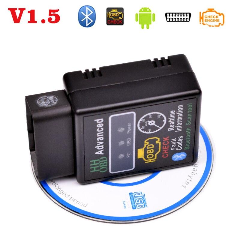 Prix pour V1.5 OBDII OBD2 ELM327 Bluetooth mini outils de diagnostic, Voiture fault code reader interface détecteur, code scanner de la panne