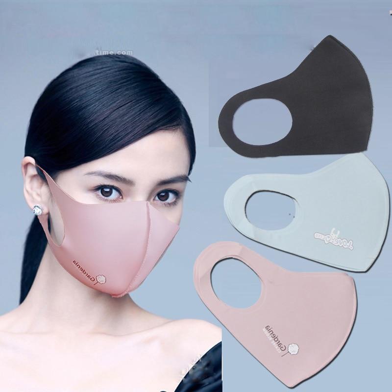 Mask Summer Thin Star Style Ice Silk Washing Kpop Nv Fashion Dust Anti-Fog Haze Print Riding Sun Mask