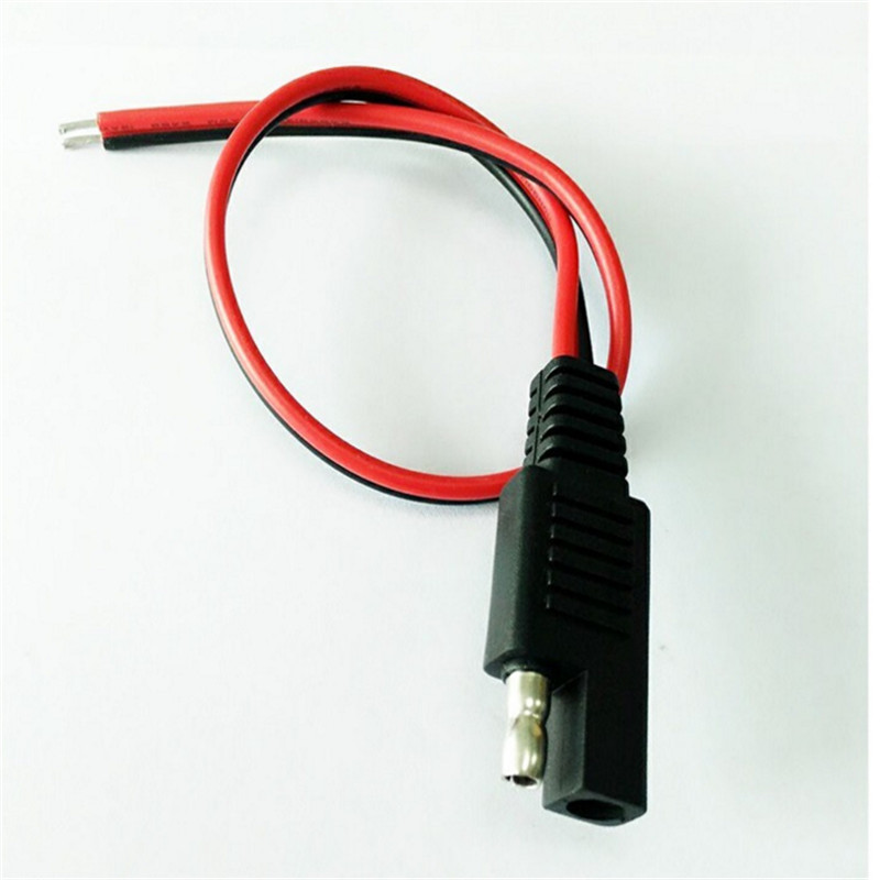 2x 18AWG Solar Battery SAE Male to Male Harness Extension Connector Cable
