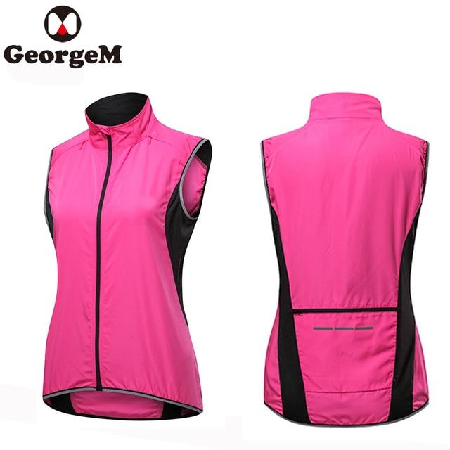 Женская верхняя спортивная одежда ветрозащитная велосипедная безрукавка велосипедные майки ветронепроницаемая велосипедная розовая Све...