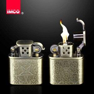 Image 2 - 2018 Retro Design Benzin Leichter Gadgets Kerosin Öl Leichter Gas Schleifscheibe Zigarette Retro Zigarre Tabak Bar Feuerzeuge