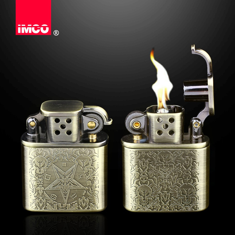 Image 2 - 2018 Retro Design Petrol Lighter Men Gadgets Kerosene Oil Lighter Gas Grinding Wheel Cigarette Retro Cigar Tobacco Bar Lighters-in Cigarette Accessories from Home & Garden