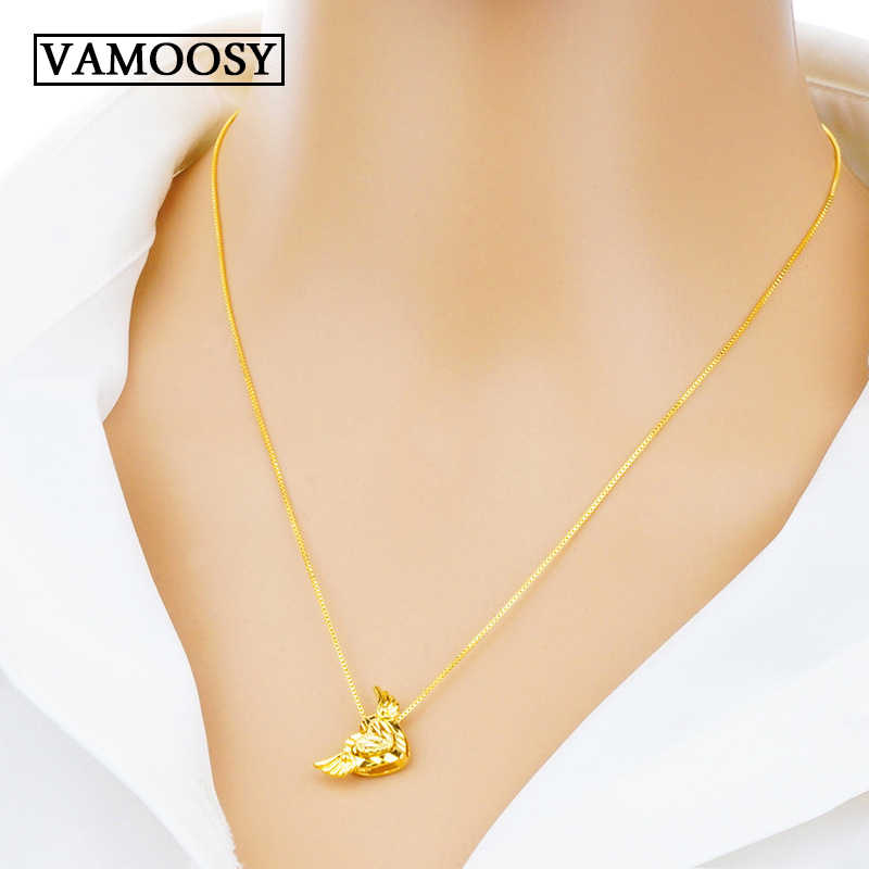 174e91e3e1d1f 2019 Tiny Heart Choker Necklaces for Women 24K gold Chain Small Love  Necklaces Pendant on neck Bohemian Chocker Necklace Jewelry