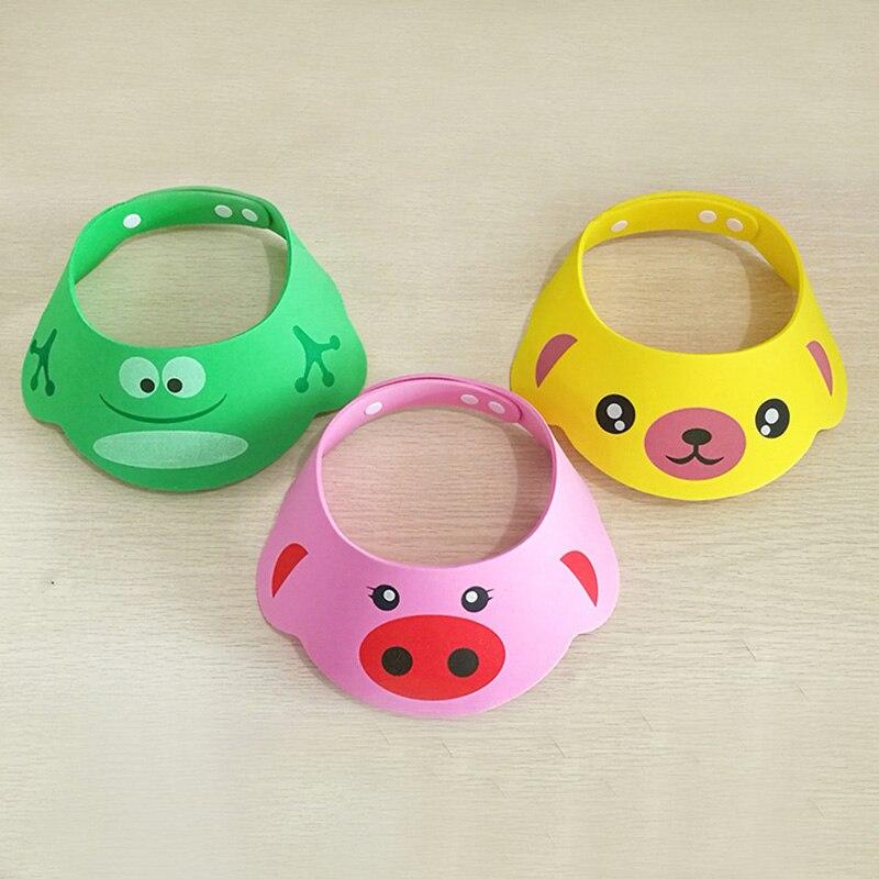Cute Toddler Kids EVA Wash Hair Shield Direct Visor Caps Shampoo Bathing Shower Cap For Children Baby Care