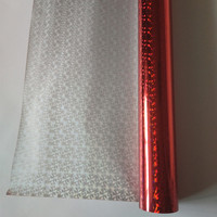 Hot Stamping Foil Holographic Foil Red Color C04 For Paper Or Plastic 64cm X120m