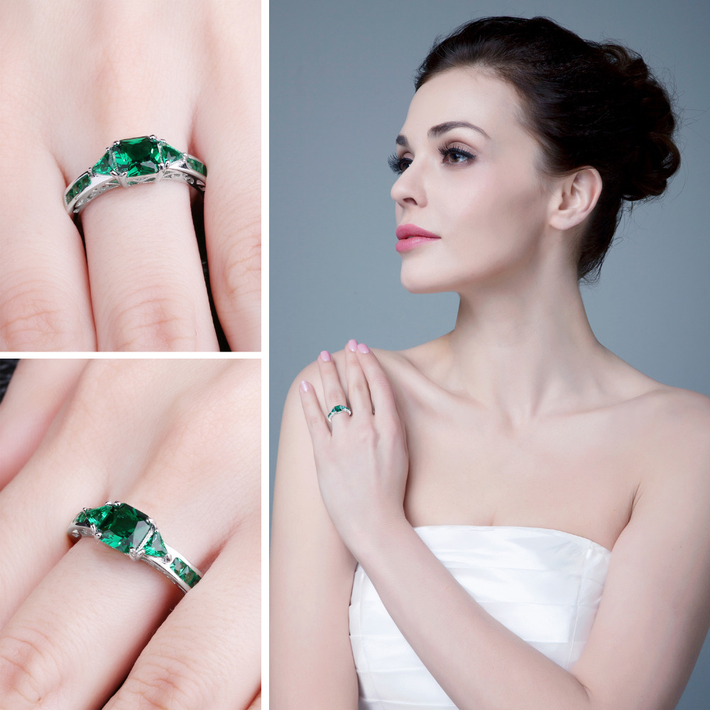 JewelryPalace Caved 1.3ct Nano Russian Simulated Emerald Statement - Նուրբ զարդեր - Լուսանկար 3