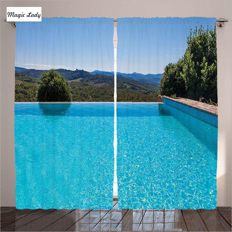 Image Of Sunny Arizona Pools: Curtains Decoration Fabric Fabric Swimming Pool Natural