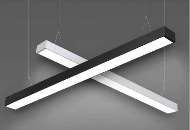 L Modern minimalist yeni ofis binası şerit tavan ışık led ofis aydınlatma tavan kurulumu ofis lambaları aydınlatma