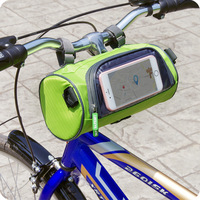 Touchscreen Cycling Front Frame Bag Waterproof PVC Bike Bicycle Bag Pouch Storage Bag