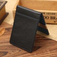 Yishen унисекс тонкий бумажник Зажимы для денег из искусственной кожи 2 сложить открытыми зажим для денег держатель кредитной карты в случае денежных клип MJJ005