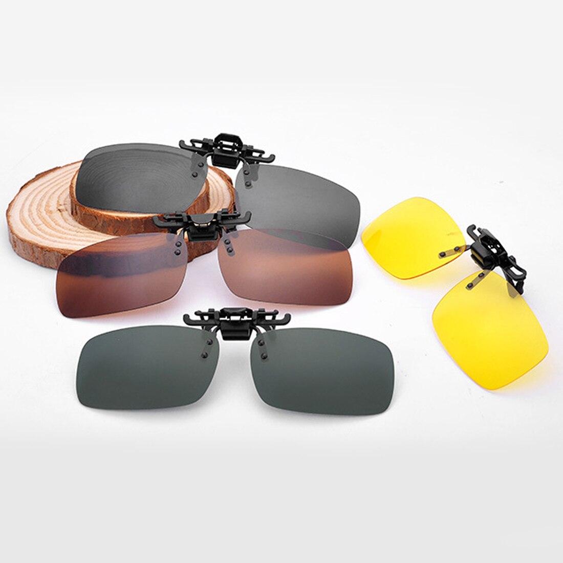2019 Near-Sighted Driving Night Vision Lens Anti-UVA Anti-UVB Sunglasses Clip  Unisex Polarized Clip On Sunglasse