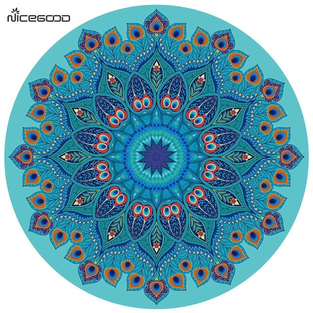 3 5mm Daim Tapis De Yoga Mandala Debutant Pavane De Caoutchouc De