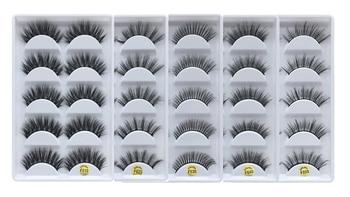 Romantic Bear 5 pair pack mink 3D hair eyelashes Hand-made reusable fake lashes natural long thick eyelashes 240sets/lot DHL