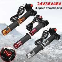 EBike Scooter Electric Throttle Grip Handlebar 24V 36V 48V 60v LED Digital Meter 3 Speed 2