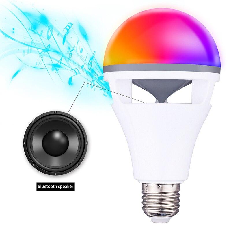 Bluetooth app contrôle haut-parleur ampoule lampe de haute qualité RGBW E27 ampoule avec bluetooth haut-parleur musique jouant coloré haut-parleur ampoule - 6