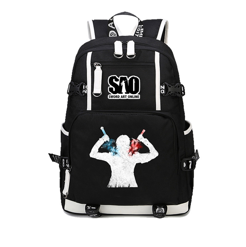 Anime SAO Sword Art Online Backpack canvas Printed Rucksack Mochila Schoolbag Student Boy Girl bookbag men women Travel Package