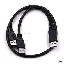 Новейший популярный кабель Sata для передачи данных USB2.0 + USB 3,0 тип A к USB 3,0 A штекер Y-образный Кабельный соединитель для жесткого диска