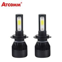 Atcommбыл H7 H1 светодиодный мини огни автомобиля H4 авто лампы 9005/HB3 9006/HB4 12 В 24 В 4300 К белый 8000Lm 72 Вт светодиодный H11/H8/H9 туман светильник светодиодный кош
