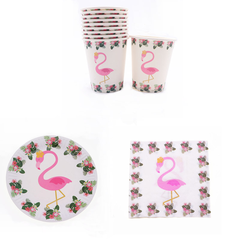 40Pcs Pink Flamingo Birthday Disposable Tableware Set Party Decoration Kids Napkin Cup Plate Party Supplies Baby Shower40Pcs Pink Flamingo Birthday Disposable Tableware Set Party Decoration Kids Napkin Cup Plate Party Supplies Baby Shower