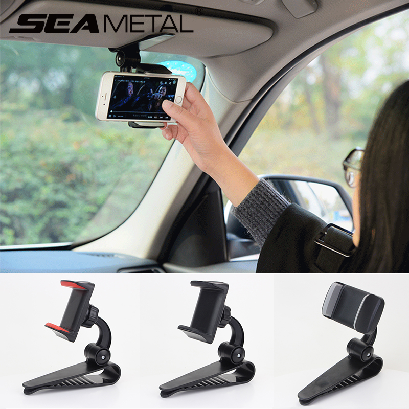 Soporte de teléfono para coche soporte de teléfono parasol soporte de teléfono 360 grados de rotación parasol para coche soporte de teléfono parasol soporte de montaje para coches universales