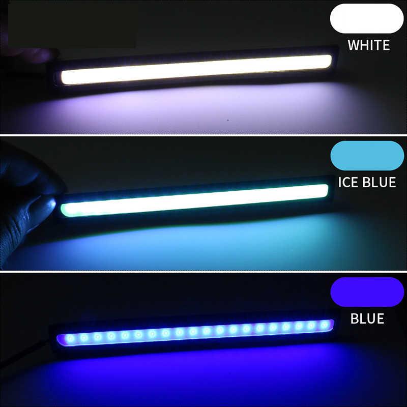 17cm COB LED DRL Driving Daytime Running Lights Strip 12V Auto Waterproof Car Styling Led Lamp Car Working Light Z2