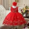 Американские девушки платье без рукавов детей новый вышитые Юбки сладкий платье принцессы