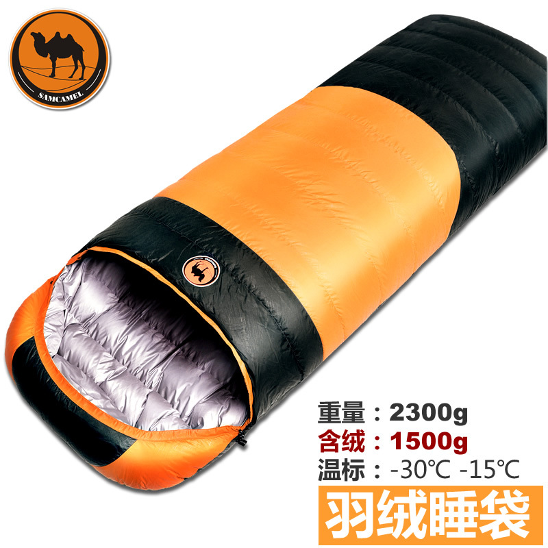 Camcel ultralight camping sleeping bag envelope white duck down sleeping bag goose down super warm sleeping
