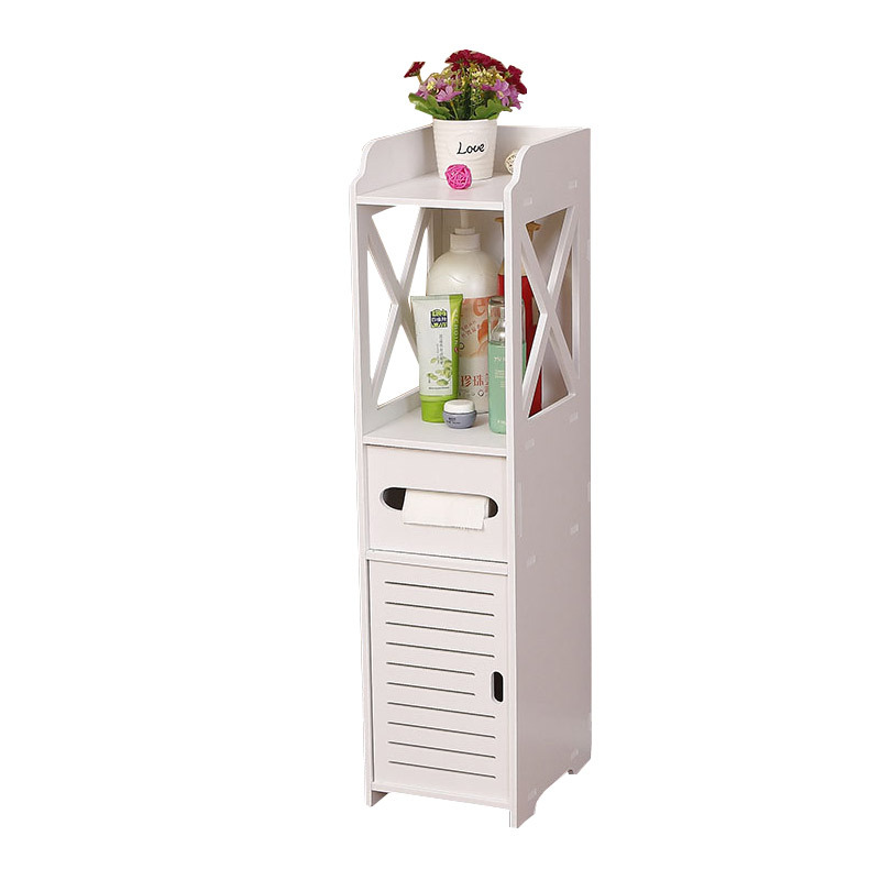 Ванная комната стеллаж для хранения Гостиная стенд полке шкафа хранения Водонепроницаемый деревянный Пластик хранения стойку с ящиком