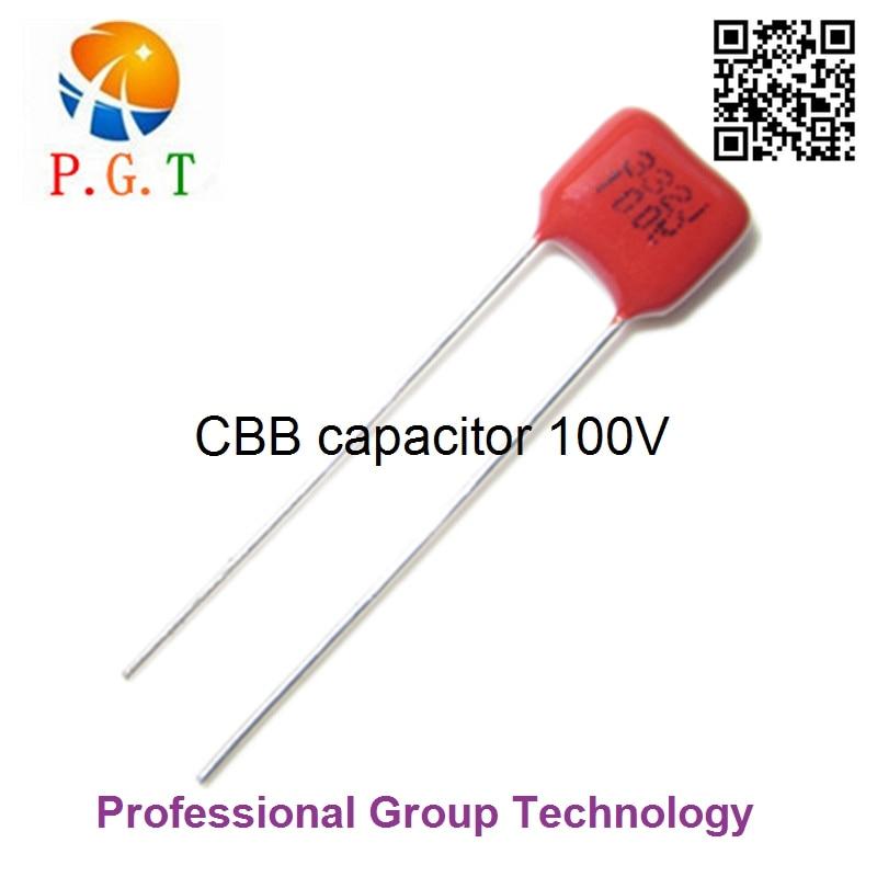 20PCS CBB 104J 250V 0.1uF 10nF P=10MM Metallized Film Capacitor