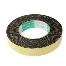 Uxcell 1PCS 5Meter 25mm x 2mm Single-side Adhesive Shockproof EVA Sponge Foam Tape Yellow, Black Insulation Hot Sale