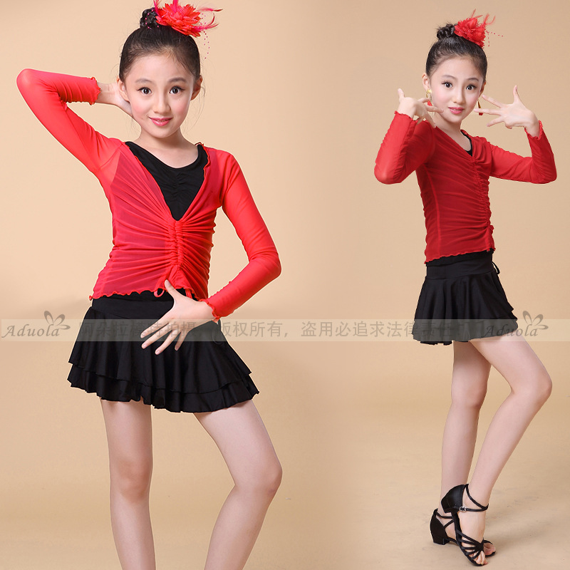 3pcs Girl Kids Latin Dance Dress Set Salsa Rumba ChaCha Tango Dancing Clothing Children Dress Latina Beyonce Leotard Dress Dress