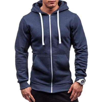 Men's Solid Zip Up Hoodies Classic Modis Winter Hoodies Sweatshirt Jacket Coat Long Sleeve Casual Male Zipper Pocket Hoodies