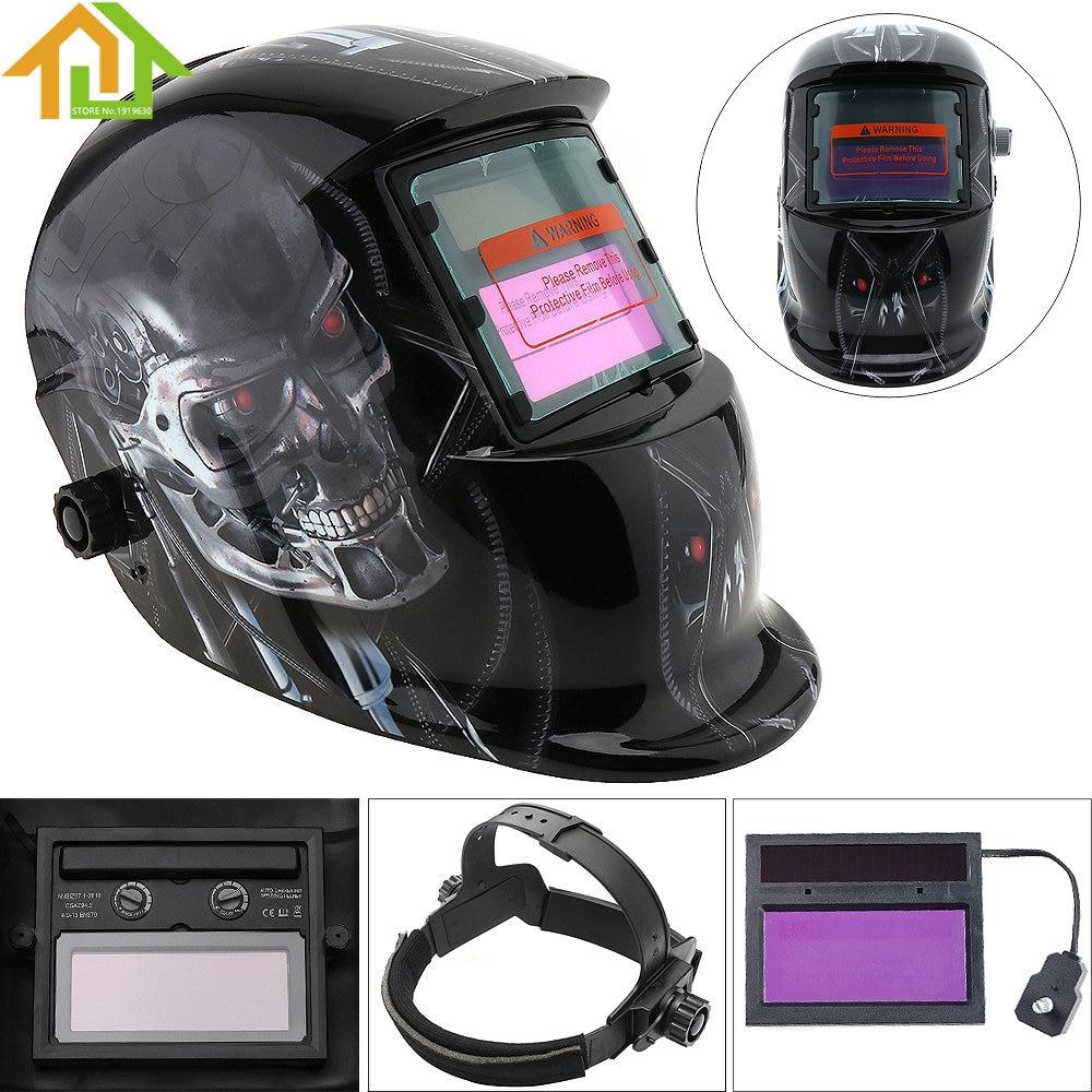 Welding Helmets / Face Mask / Electric Welding Mask / Weld Cap Stepless Adjust Solar Auto Darkening TIG MIG Grinding Welding Too