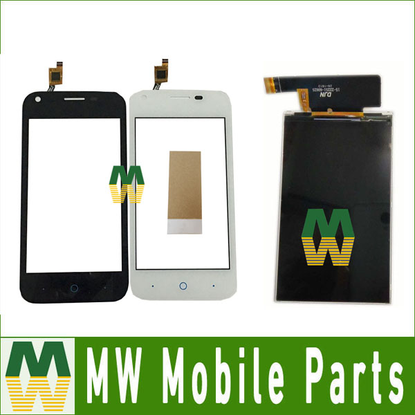 1PC/Lot High Quality For ZTE L110 Seperate Touch Screen And Lcd Screen Display Black White Color with tools+tape