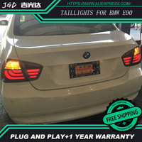 Car Styling tail lights case for BMW E90 i318 i320 2005 2008 LED Tail Lamp rear trunk lamp cover drl+signal+brake+reverse