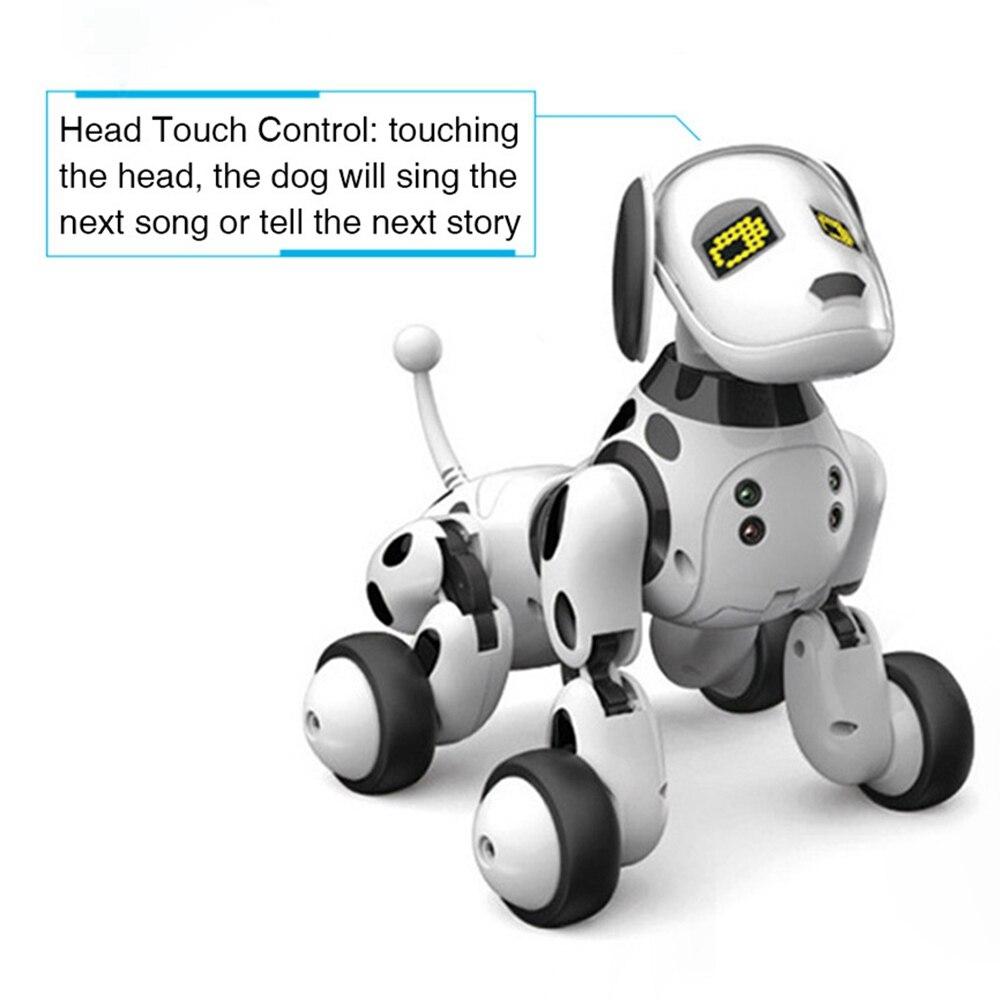 fio crianças brinquedo inteligente falando robô cão