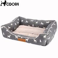 COOBY Pet Dogs Beds Mats Cotton All Seasons Warm Pet Products Bed For Small Large
