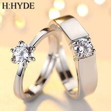 H:hyde модный хрусталь циркон камень обручальные кольца для
