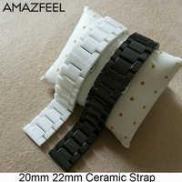Pulsera de 20mm para Xiaomi Amazfit Bip GTR 42mm 47mm Stratos Pace 22mm correa de cerámica para samsung Gear S2 S4 S3 Galaxy 46mm