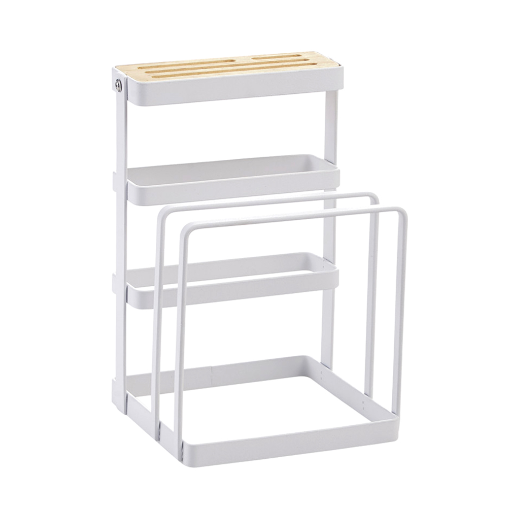 Newly Metal Cutting Board Chopper Holder Drying Rack Counter Display Stand Kitchen Storage Tool TE889