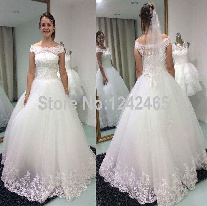 Aliexpress.com : Buy Ball Gown Off Shoulder Wedding Dress Floor ...