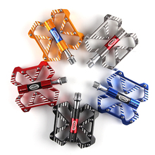 Anti-skid Mountain Bike Pedal MTB Pedal Bicycle Flat Pedals Aluminum Alloy Cycling 3 Bearings Platform Pedal Bicycle Accessories mzyrh m80 bike pedal aluminum needle bearing platform anti skid bmx mtb bicycle pedals