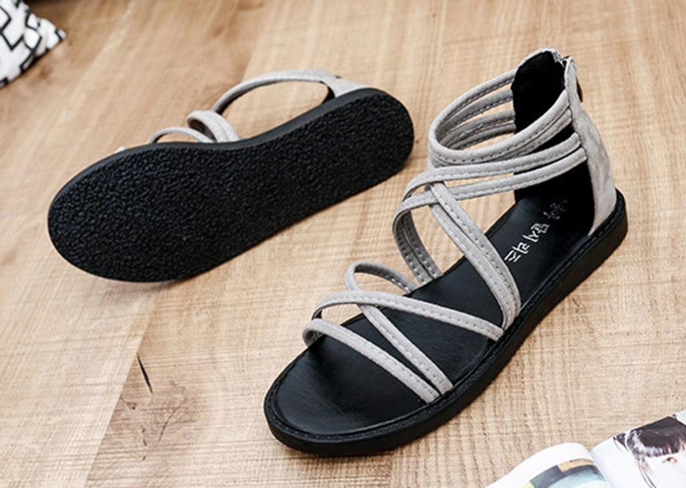 women Sandals Women Flat Shoes Bandage Bohemia Leisure Lady Casual Sandals Peep-Toe Outdoor Chaussures Femme 2018 hot sale 21