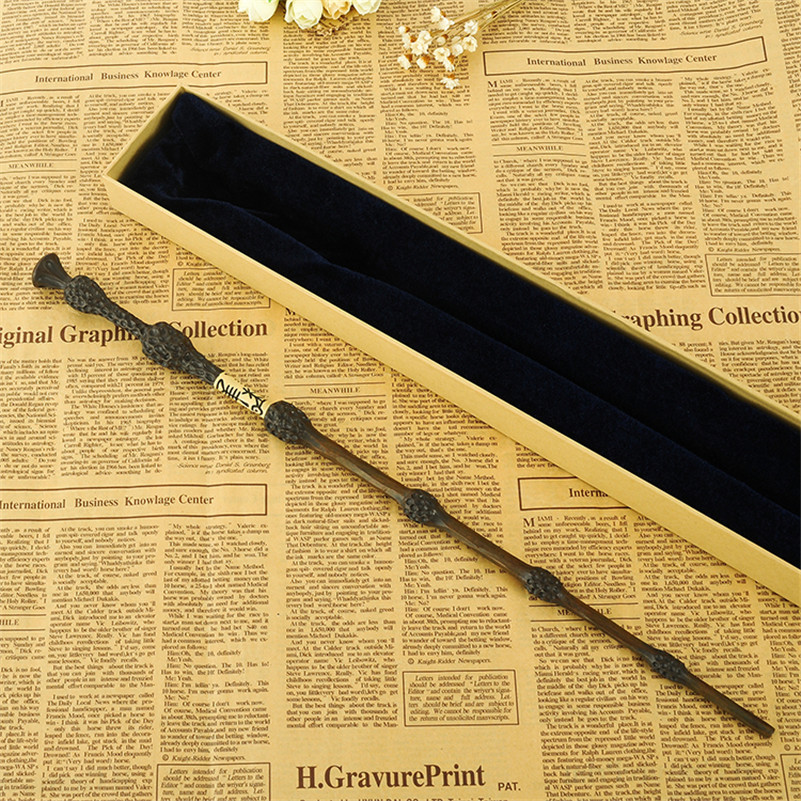 Originalversjon Kvalitet Metall Core Deluxe COS Albus Dumbledore Magic Wand av Harry Potter Magisk Stift med Gave Box Packing