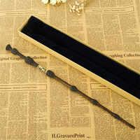 Versión Original calidad Metal Core Deluxe COS Lucius Dumbledore varita mágica de película Harri palo mágico con caja de regalo embalaje