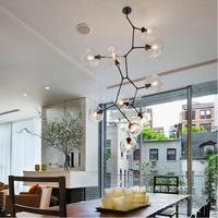 Studio Post Modern Glass Pendant Lights Luminaire Novelty Glass Cover Stair Lighting Shopping Mall Black Gold