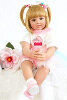 60 cm soft blonde Reborn Baby Dolls big size dolls for girls Doll Reborn 3/4 Silicone boneca bebe reborn Christmas toys for sale