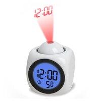Projection Digital Alarm Clock Desktop Table Clock Watch Snooze LED Home Alarm Clock Electronic Table