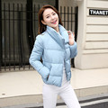 New Wadded Winter Jacket Women Cotton Short Jacket Plus Size 2016 fashion Girls Padded Slim Hooded winter Parkas Female Coat